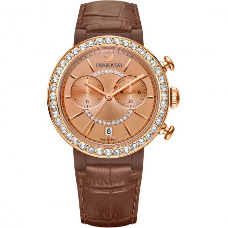 Swarovski - Citra Sphere Chrono Watch, Brown 5183367