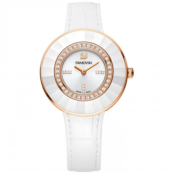 Swarovski - Octea Dressy White Rose Gold Tone Watch 5182265