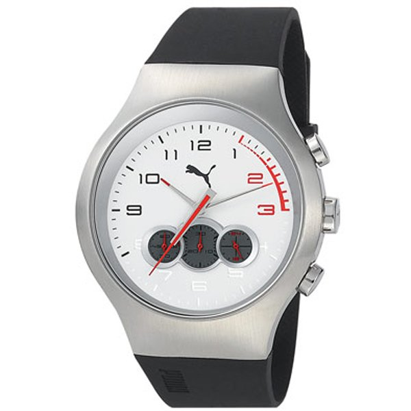 Puma - Red Zone Chrono Silver White PU102791005